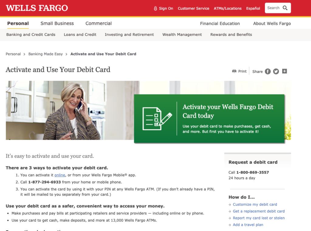Wellsfargo.com/activate