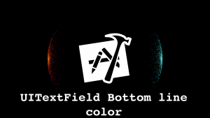 Xcode UITextField bottom line color