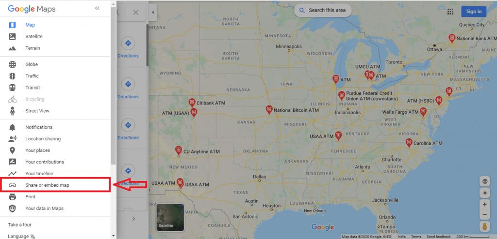 add-google-map-website