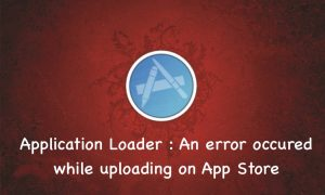 Application Loader Error Uploading on AppStore