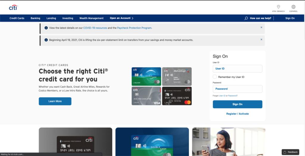 Biolife Citi Card Prepaid Account