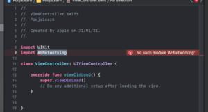 No Such Module Error Xcode iOS
