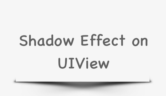 Shadow Effect on UIView