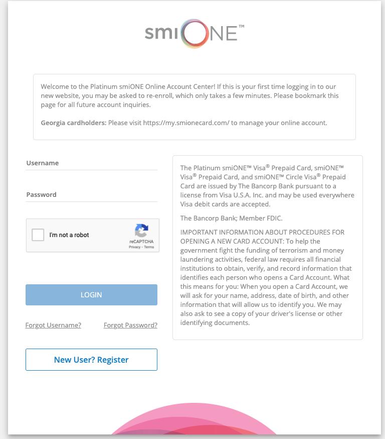 TX SmiONE Card Login Guide